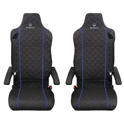 Renault T ,Renaul C Truck Seat Covers BLUE piping 2 piece (1+1)