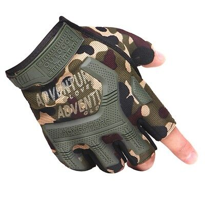 Tactical Half Finger Fingerless Gloves Paintball Motorcycle Cycling CS Gloves AU