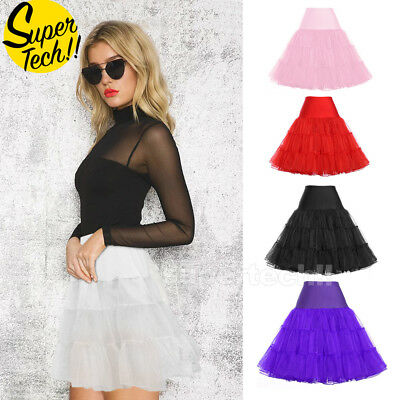Tutu Skirt Lady Vintage Petticoat Tulle Dress 50s Underskirt Mothers Day New