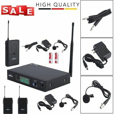 LOT RODIGS RWM60U Professional UHF Headset & Guitar Wireless Microphone System