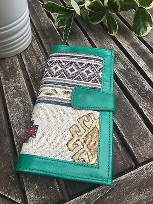 Ladies Genuine Real Leather Purse Wallet Green Bifold