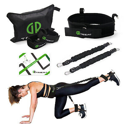 Exercise Belt Booty Strap Sets - Resistance Bands for Leg & Butt -Tone Firm Band