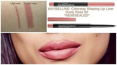 Maybelline: Rotary Colorsensational Shaping Lip Liner 'Dusty Rose 50' NEW/SEALED