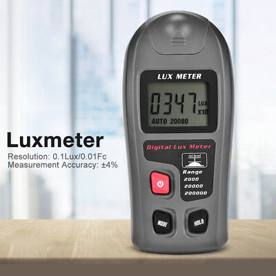200,000 Lux Light Meter High Precision Digital Luxmeter Illuminometer Photo AU