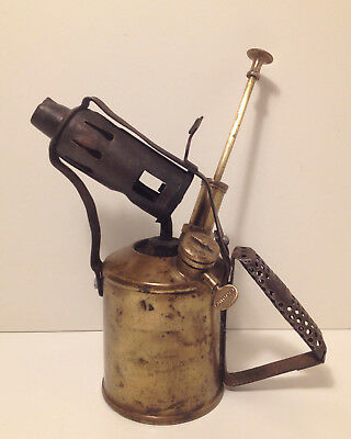 Vintage Antique Paraffin Brass Blowtorch Lamp PRIMUS No 632 Blow Torch Retro Old