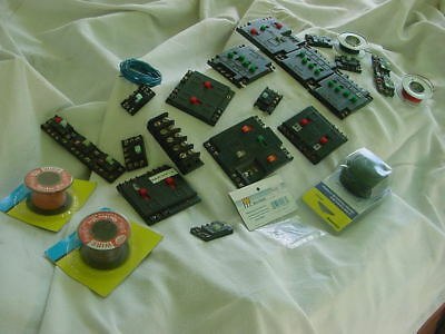 HO Scale Model Railroad   Switches , wire, track cleaner Hobby  used not tested.
