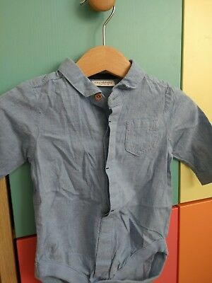 Next Baby Boy Blue Long Sleeved Shirt 0-3 Months new