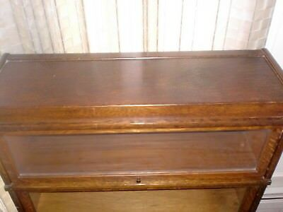 Globe - Wernicke Antique Barrister  Bookcase Display Case Lawyer 2 Tier  Oak