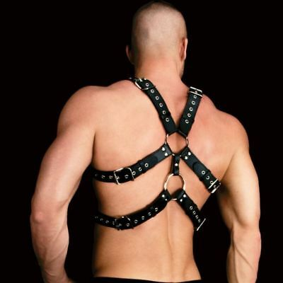 Gay Andreas Masculine Masterpiece Male Harness One Size Black Fetisch Harness