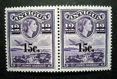 Antigua - St Johns Harbour, Joined Pair 15c/12c M Stamps