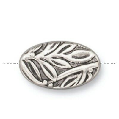 4 TierraCast Botanical Beads, Antique Silver Plated Lead-Free Pewter (T822-Q4)