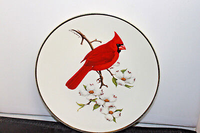 Large 1974 Vtg AVON Cardinal Collector Plate Red Bird by DON ECKELBERRY