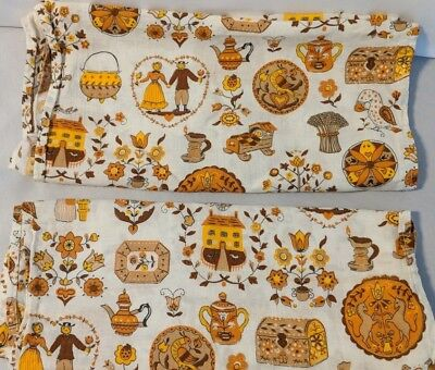 Harvest Fall Mid Century Modern Table Runners Table Linens  61 x 16 inch
