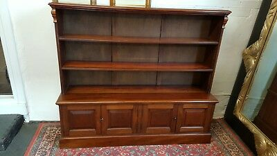 Victorian solid mahogany Barristers bookcase