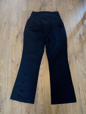 Next Black maternity work trousers size 14R
