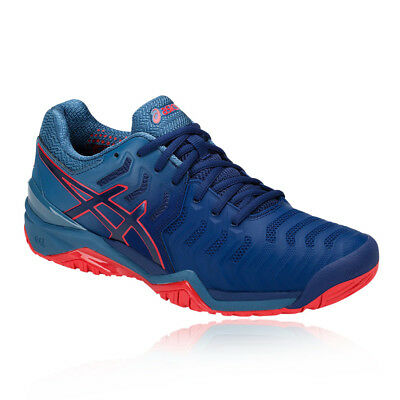 Asics Mens Gel-Resolution 7 Tennis Shoes Blue Breathable Lightweight Trainers