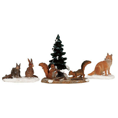Lemax Animali Del Bosco - Woodland Animals Set Da 4 Cod 12516