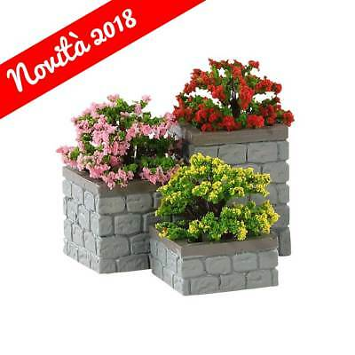 Lemax Fioriere - Flower Bed Boxes Set Da 3 Cod 84380