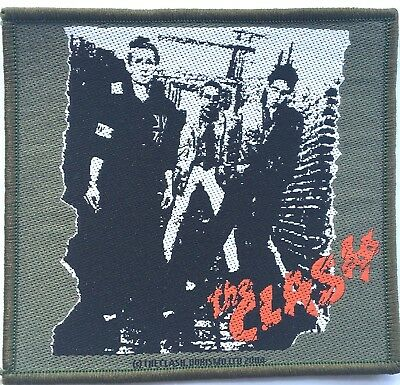 THE CLASH Woven Patch Sew On OG 2004 Official PUNK(NOT shirt pin badge)
