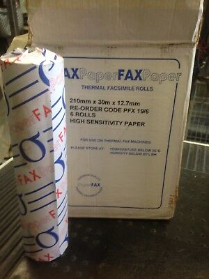 Fax Thermal Paper 210x30x12.7