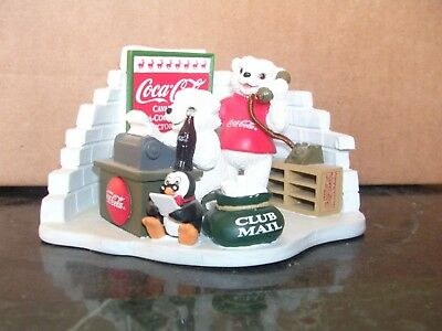 Coca Cola Christmas Collectible Polar Bear Cub Collection 1999