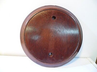 Wood Mounting Base for Schatz Ships Bell Clocks Old Stock