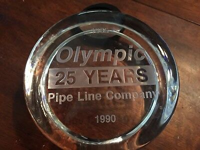 Olympic Pipe Line Company Paper Weight 25 Year 1965 1990