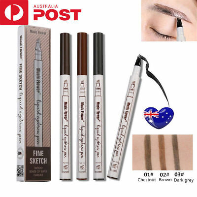 Eyebrow Tattoo Pen Waterproof Fork Tip Patented Microblading Ink Sketch  UE