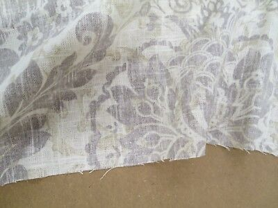 Fabricut Fabric Pattern Erudition Color Graphite 1.2 Yd x 53 In Drapery Downton