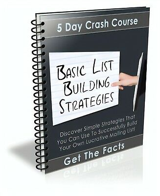 Basic List Building Strategies PDF eBook with Master Resell Rights