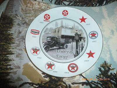 Texaco 'A Century of Energy' Commemorative Plate Issued To Employees 2001 w/ Box