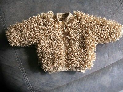 Baby Childs Toddler Loopy Cardigan only Made In Any Colour size 1-2 2-3 3-4 year