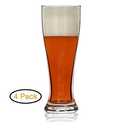 Nucleated Pilsner Beer Glasses for Better Head Retention, Aroma and Flavor - ...