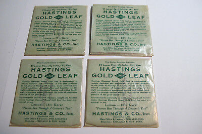 4 Hastings Gold Leaf Packs, 18 1/2 Karat