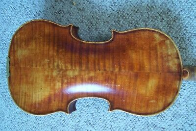 Antique Estate Labeled Full Size Violin and case For Parts or Repair