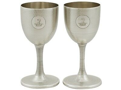 Antique Victorian Sterling Silver Wine Goblets London 1869
