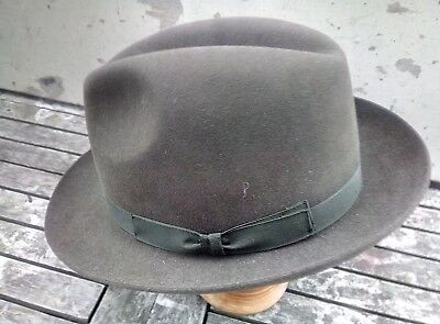 Hand Made Fur Felt Trilby By Lincoln Bennett Of Picadilly Size 6 7/8