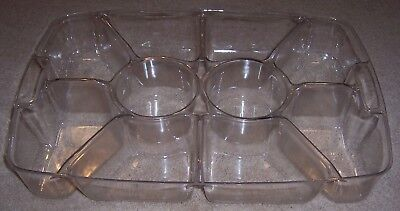 1996 Longaberger Large Hostess Serving Tray Chip & Dip Plastic Protector - Nice!