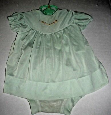 Vintage 50s Toddler Girl 2 pc Top and Pants Nylon Mint Green