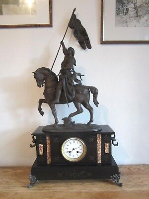 Wonderful Joan Of Arc, Antique French Clock. 97cm Tall!