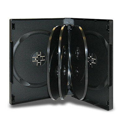 1 PCS 27mm 8 Disc Black CD/DVD Case with 3 Trays