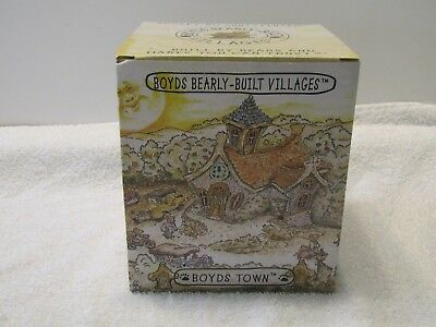 Punky Boobear's Haunted Halloween House Boyds Bearly Built Villages COA MAP *