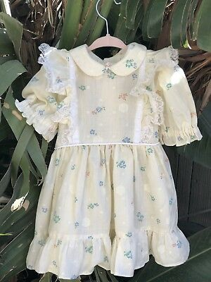 Girls YO BABY boutique dress 3T 4 4T 5 NWT boho caftan vintage floral 60s 70s