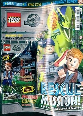 Lego Jurassic World Special Edition #2 - 2018 ~ With Owen + Lookout Set ~ New ~
