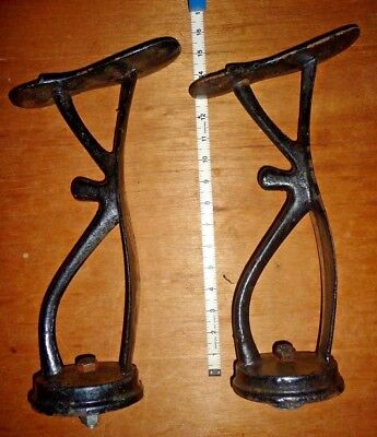 Antique Pair of Shoe Shine / Barber Shop Foot Rests : 15 Inchs Tall