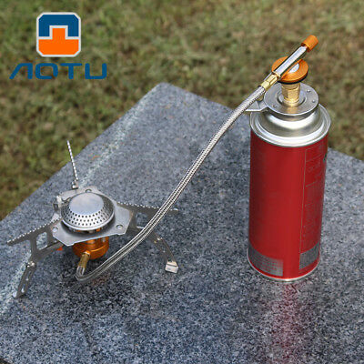 Outdoor Camping Conversion Head Gas Bottle Adaptor Stove Burner Connector HE
