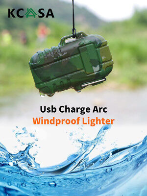 Double Arc Rechargeable Lighter Outdoor Portable Waterproof Windproof Electronic