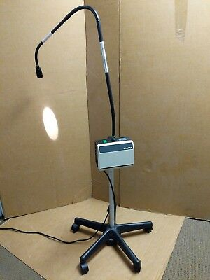 Welch Allyn 48200 Exam Light w/ Fiber Optic Light Pipe & Rolling Stand