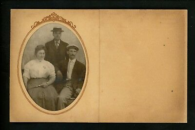 Novelty postcard Greetings Card w/ real photo inserted Vintage