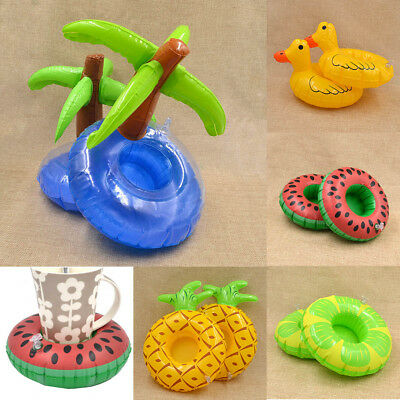 2 Pcs Floating Drink Holder Party Fruits Swimming Pool Summer Inflatable Lovely